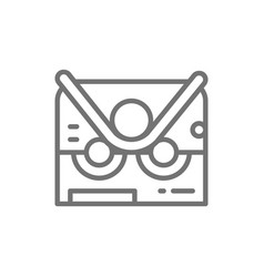 Pipe bending machine bend machine line icon vector