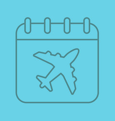 plane departure date linear icon vector image