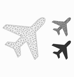 Plane mesh carcass model and triangle vector