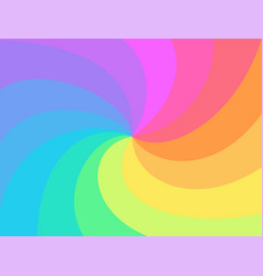 rainbow twisted spiral background vector image