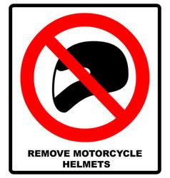 Remove motorcycle helmets icon symbol protection vector