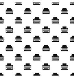 round button typewriter pattern seamless vector image