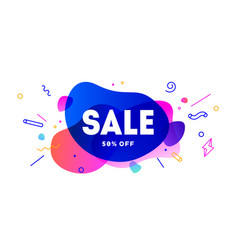 sale speech bubble banner poster speech bubble vector image