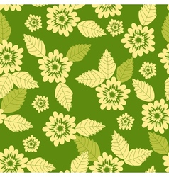 seamless flowe pattern vector image