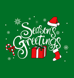 seasons greetings text vector image