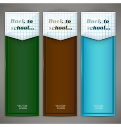 Set of colorful banners arrows bookmarks Back to vector