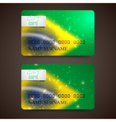 set of gift cards with blurred effect in brazil vector image