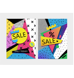 Set of sale banners brochures signboards vector