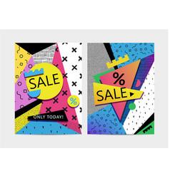 set sale banners brochures signboards vector image