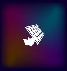 Solar energy eco concept icon vector