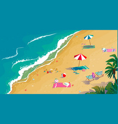 summer vacation sea and sand tropical beach top vector image