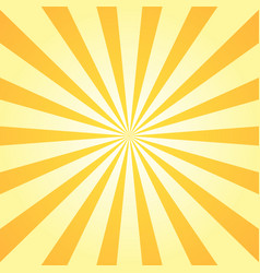 sun rays background orange yellow radiate sun vector image