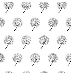 Tree hand drawn patterns uneven-04 vector
