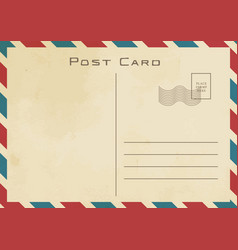 vintage classical postcard design vector image
