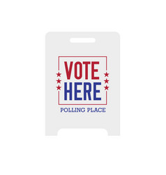 Vote here polling place sign vector