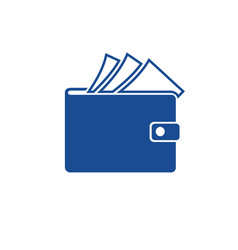 wallet with paper money isolated icon finance vector image
