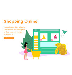 web page template for shopping online vector image