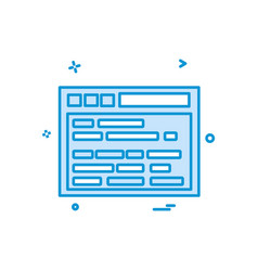 website layout icon design vector image