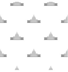 White house pattern seamless vector