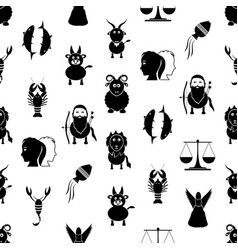 Zodiac signs for astrology set of cartoon animals vector