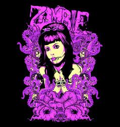 Zombie look vector