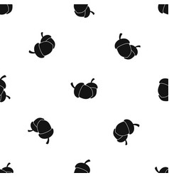 acorn pattern seamless black vector image vector image