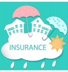 House insurance vector image vector image