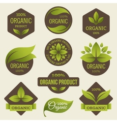 Organic products labels vector image vector image