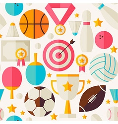 Sport Competition Recreation Flat Seamless Pattern vector image vector image