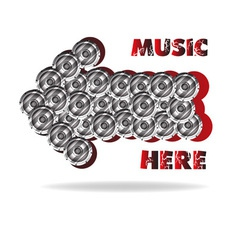 The abstract advertizing of music vector image