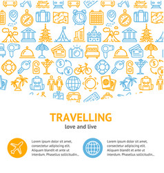 travel and tourism concept infographics banner vector image