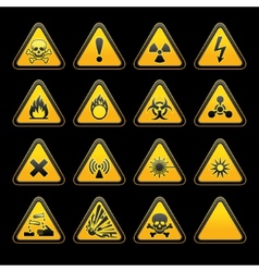 triangular warning signs vector image vector image