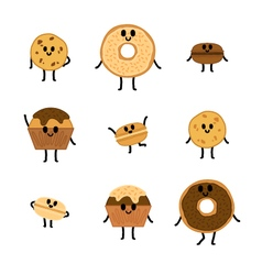 Chocolate Pastry Characters vector image