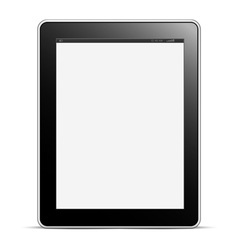 Digital tablet PC with blank screen isolated on vector image