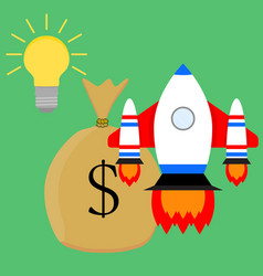 financially successful launch start up idea vector image vector image