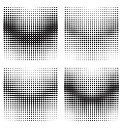 Halftone gradient effects vector image vector image
