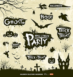 Happy Halloween collections vector image vector image