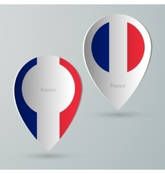 paper of map marker for maps france vector image vector image