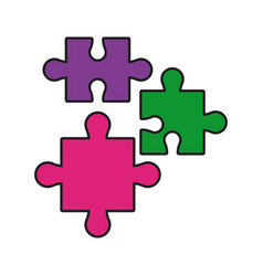 puzzle jigsaw piece business team vector image