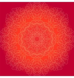Round lace background vector image