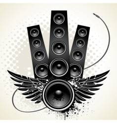 wings speakers vector image