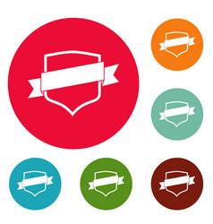 badge icons circle set vector image vector image