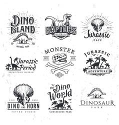 Big Dinosaur Logo Set Triceratops t-shirt vector image vector image