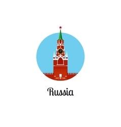 Russia landmark isolated round icon vector image