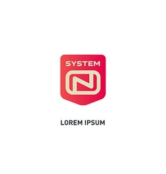 System On - logo design template icon or d vector image