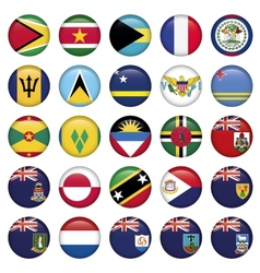 American Flags Soft Round Buttons vector image vector image