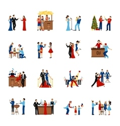 Party People Icons Set vector image vector image