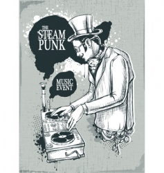 steam punk musical poster vector image