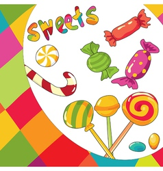 sweets colorful background vector image