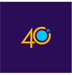 40 years anniversary celebration template design vector